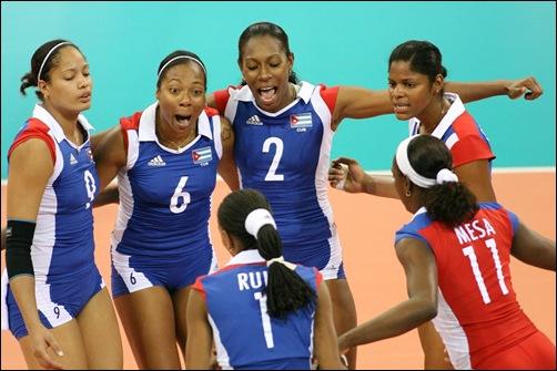 team Cuba celebrate