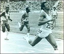 El atleta cubano: 100 metros planos (M)
