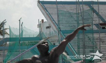 El atleta cubano: Lanzamiento de la jabalina