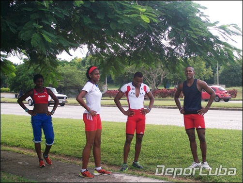 Jóvenes atletas de eventos múltiples