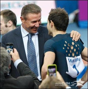 Sergey Bubka and Renaud Lavillenie at the 2014 Pole Vault Stars meeting in Donetsk (Valeriy Bilokryl/ Jean-Pierre Durand)Sergey Bubka and Renaud Lavillenie at the 2014 Pole Vault Stars meeting in Donetsk (Valeriy Bilokryl/ Jean-Pierre Durand) © Copyright