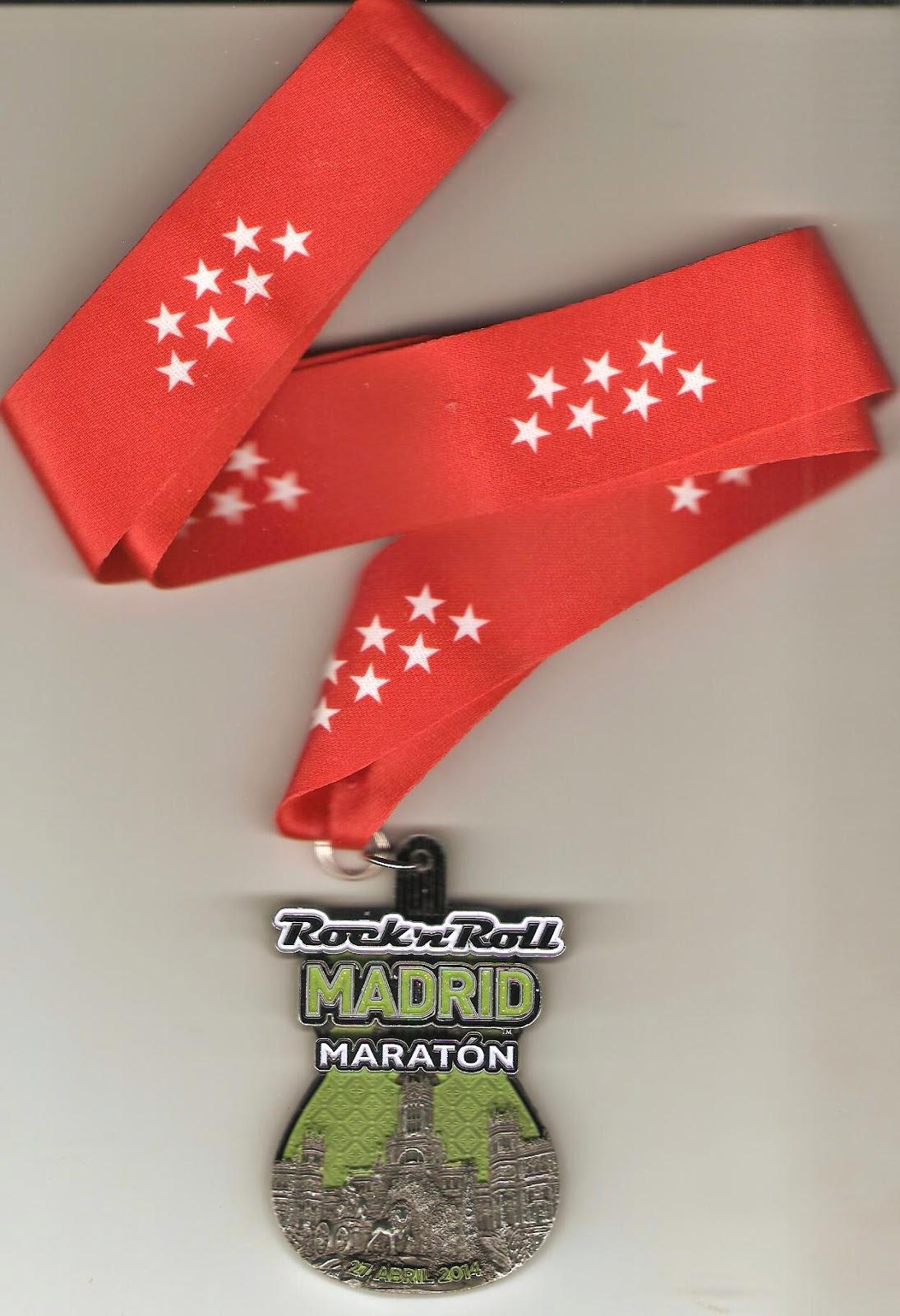 Medalla conmemorativa que se entregó a los participantes del Maratón de Madrid