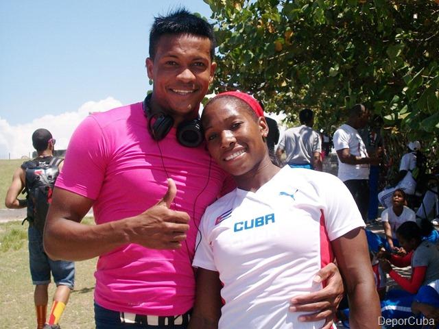 Yarisley Silva y Ernesto Revé (Triple salto)