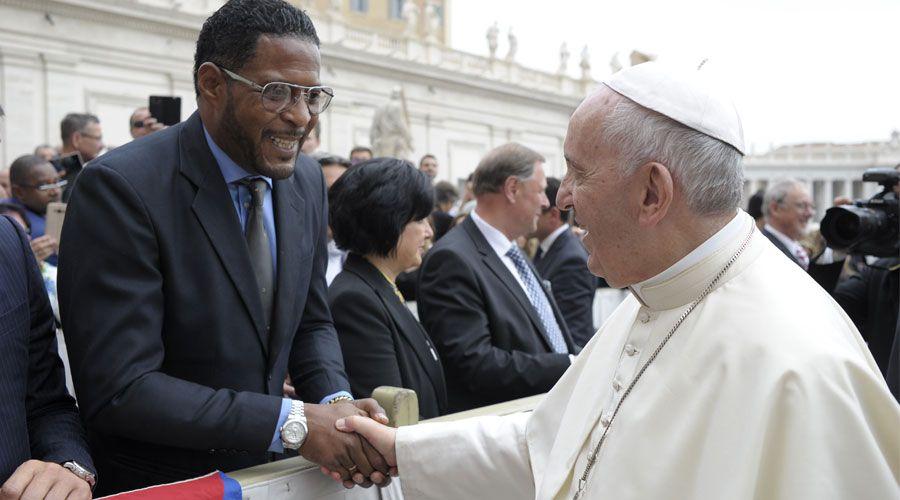 Deportistas cubanos en el Vaticano