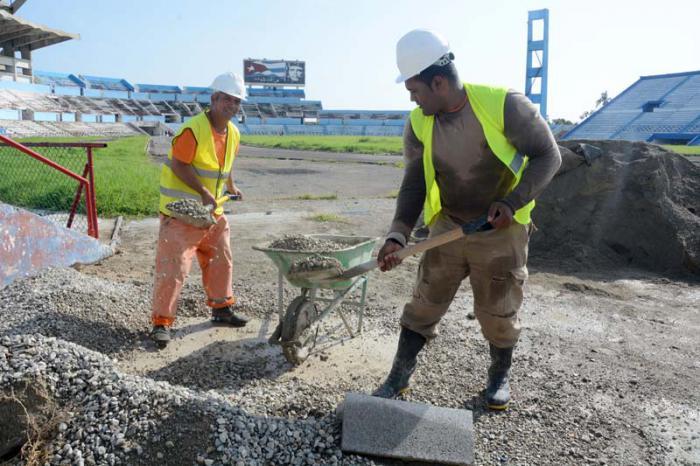 Sobre los trabajos en el Estadio Panamericano