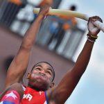 El atleta cubano: salto con pértiga