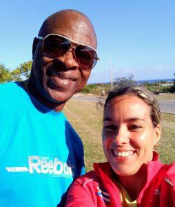 Con Ubaldo Duany en La Habana durante su jornada de entrenamientos en las inmediaciones del Estadio Panamericano. Foto:Deporcuba
