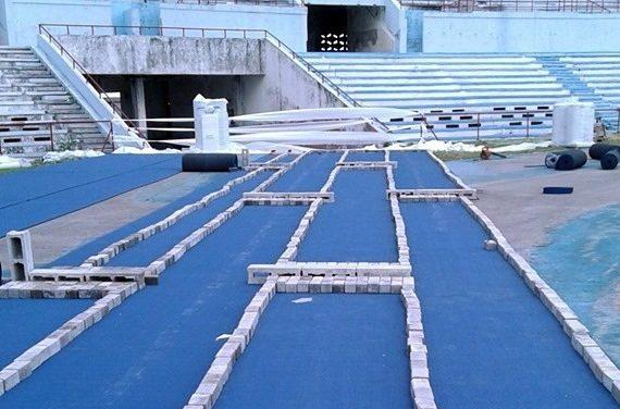 Estadio Panamericano: Inicia colocación de la pista