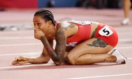 Salwa Eid Naser hace historia en 400 metros
