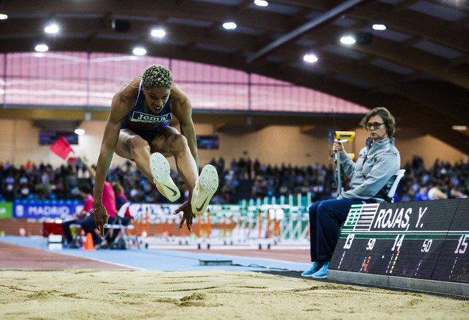 Yulimar destroza el record del mundo Indoor en Madrid