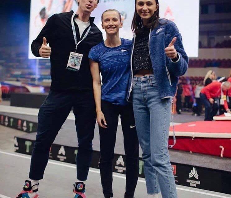 Lasitskene, Sidorova y Shubenkov plantan cara