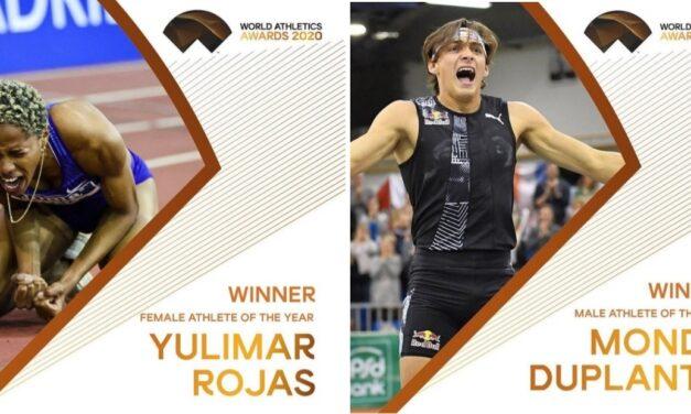 Yulimar Rojas & Mondo Duplantis son los mejores del 2020