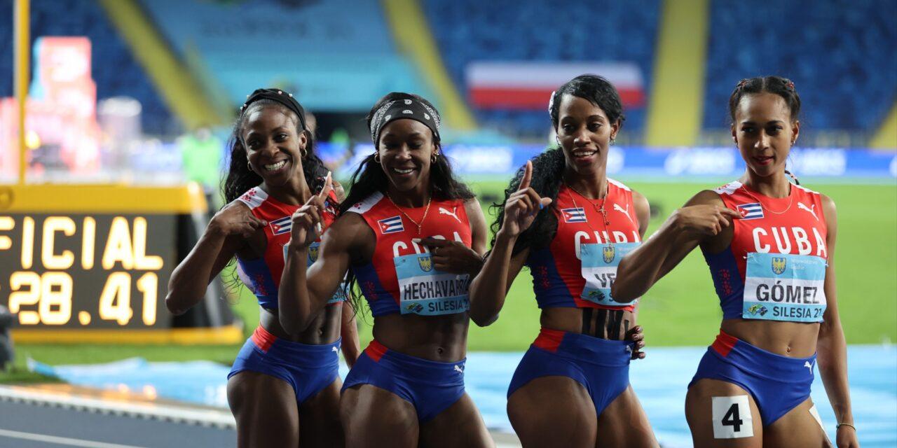Cuba gana el título en el 4×400 femenino en #Silesia21