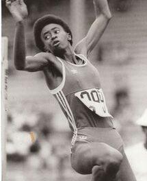 La atleta cubana: Salto de altura