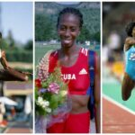 La atleta cubana: Salto de longitud